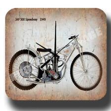 JAP 500 Speedway 1949   MOTORCYCLE   METAL TIN SIGN GARAGE WALL CLOCK