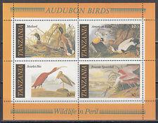 Tanzania-blocco 55 ** uccelli/200. compleanno di John James aububon