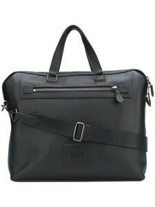 NEW Coach Academy Holdall Midnight Navy Pebble Leather Briefcase Bag 32251