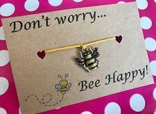 Under £5, Friendship Bracelet, Christmas Stocking fillers, Bee Bracelet, Gifts
