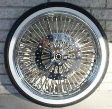 21 x 3.5 Chrome 52 Mammoth Fat Spoke Front Wheel WWW Tire 07+ Harley Softail ABS