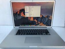 """17"""" Apple MacBook Pro 2.3 GHz Core i7, 4GB di RAM, 500GB SSD, inizio del 2011 USATO"""