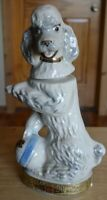 1970 Jim Beam Penny the Poodle White and Blue Ball Decanter