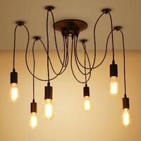 Vintage Hanging Multiple Ceiling Spider Lamp Light Pendant Lighting Fit E27/E26