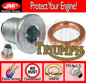 Magnetic Oil Sump Plug with Copper Washer- Triumph Street Twin 900 EFI - 2016