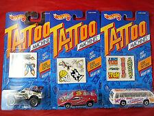Vintage Hot Wheels Tattoo Machines -- Lot of 3 -- Brand New -- MOC