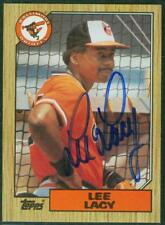Original Autograph of Lee Lacy of the Baltimore Orioles on a 1987 Topps