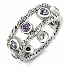 Unbranded Round Amethyst Costume Rings