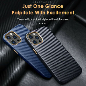 ShockProof Carbon Fibre Design Case Cover for iPhone 12 Pro Max 11 XS XR 8 7 SE