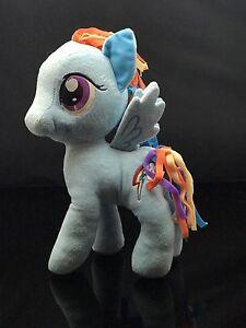"""My Little Pony 12"""" Plush Rain Now Dash Gorgeous Blue  Multi Color"""