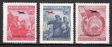 Yugoslavia - 1949 5 years republic Macedonia / Airmail - Mi. 575-77 MNH