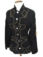True Vintage 80's Glam Rock Studded Jacket, Size 12