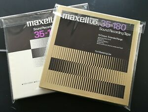 """2 lot tapes MAXELL UD XL1 35-180 1/4"""" Tape – 3600' - 10.5 NAB reel to reel tape"""