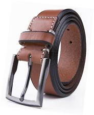Mens Full Grain Genuine Leather Dress Belt for Men,1.37inch Width Strap