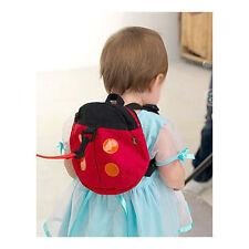 Red Ladybug Kids Children Keeper Toddler Walking Safety Harness Reins Bag Cute