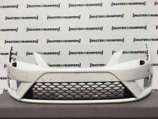 SEAT LEON FR 2013-2016 paraurti anteriore in Bianco ORIGINALE [O51]