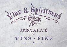 French Wine STENCIL 4 sizes WS Vintage Chic Furniture Signs, SUPERIOR 250 MYLAR