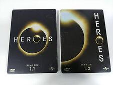 HEROES TV SERIES SEASON 1.1 + 1.2 - 7 DVD STEELBOOK + EXTRAS ENGLISH DEUTSCH