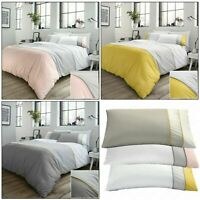 Racing Green Duvet Covers LAWSON Modern Stripe Panel 100% Cotton Quilt Cover Set