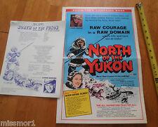 North of the Yukon Lorne Greene Bonanza Media fact sheets 1970s & Eskimo booklet