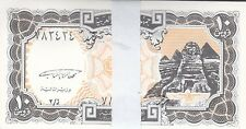 EGYPT 10 PIASTERS 1997 P-187 SIG/GHAREEB LOT ONE BUNDLE X100 UNC NOTES */*
