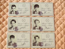 Lot of 6 EXO-M EXO HUG Wolf Photocard Full Set Luhan Xiumin Kris Tao Lay Chen