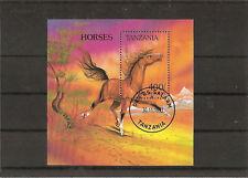 TANZANIE 1994 CHEVAUX BLOC OBLITERE YT 220