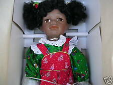 """William Tung Porcelain Doll """"Jeanette"""" + Bear Limited Ed 20"""" African/American"""