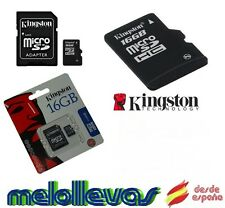 TARJETA DE MEMORIA KINGSTON MICRO SD 16GB MICROSD CLASE 4 + ADAPTADOR ORIGINAL