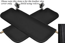 Grey Stitch Fits Austin A40 Farina Mk2 2x Sun Visors Leather Cover Only