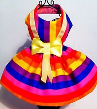 Dog Dress Beautiful gay pride rainbow  dog dress with net petticoat number 2