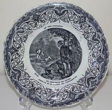 Creil et Montereau - Série Nos bons villageois - Assiette en faïence. N°12. XIXe