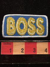 The BOSS Jacket Patch ~ Funky Jacket Emblem ~ Gold On Blue. 68D1