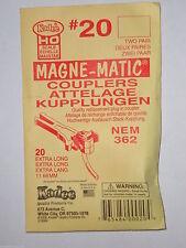 Kadee HO #20 Coupler : NEM 362 Extra Long Shank