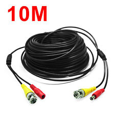 10M BNC RCA Audio Video Power Extension Cable DVR Wire for CCTV Security Camera