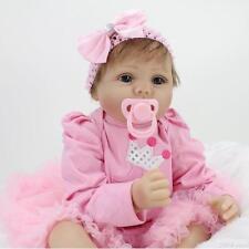 Realistic Handmade Reborn Baby Newborn 22inch Soft Silicone Vinyl Girl Dolls Toy
