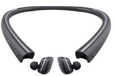 LG TONE FREE HBS-F110 Wireless Bluetooth Earbuds with Charging Neckband – Black