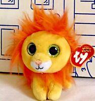 New McDONALDS TY TEENIE BEANIE BOOS # 1 Lion Plush Bushy Doll Happy Meal Toy Boo