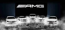 Mercedes-Benz AMG Series - 30x14 Inch Canvas Art Print Framed Picture
