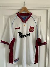 Vintage West Ham United Away Football Shirt 1998/1999 Pony Dr Martens Size XL