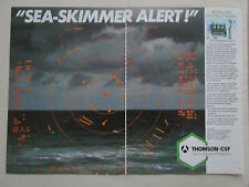1/1986 PUB THOMSON CSF SYSTEME CROTALE NAVAL DEFENSE ANTI MISSILE SEA SKIMMER AD