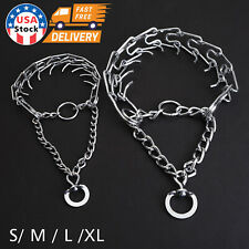 Large Dog Training Guardian Gear Collar Chain Pet Metal Prong Pinch Choke S-XL