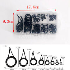 75 Pcs 8 Sizes Vintage Oval Fishing Rod Guides Line Rings Repair Eyes Brand new