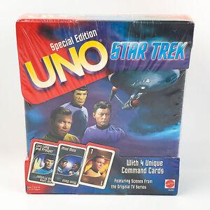 Star Trek Original Series UNO Special Edition w/ Command Cards Mattel 1999 NEW