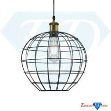 Industrial Vintage Wire Cage Multi-Function Retro Lamp Light Shade Black Globe