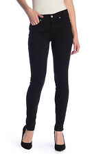 NEW! $189 7 FOR ALL MANKIND THE SKINNY JEANS BLACK SZ 26