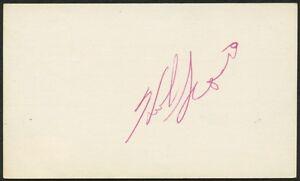 HERB SCORE SIGNED 3x5 INDEX CARD w/ JSA COA CLEVELAND INDIANS CHICAGO WHITE SOX