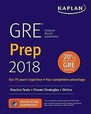 GRE Prep 2018: Practice Tests + Proven Strategies + Online by Kaplan Test...