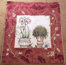 "Christmas Holiday Botanical Crafters Unfinished 26"" Tapestry Pillow Fabric Piece"