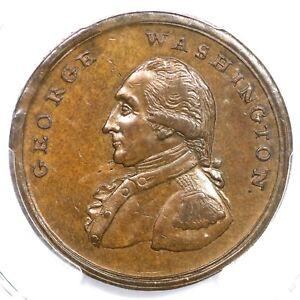 (1795) Baker-30 PCGS AU 58 Asylum Edge Liberty and Security Washington Penny